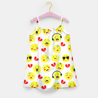 Thumbnail image of Fun Emoji Guys Fashion Trend Girl's Dress, Live Heroes