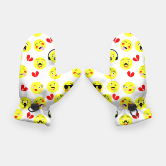 Thumbnail image of Fun Emoji Guys Fashion Trend Gloves, Live Heroes