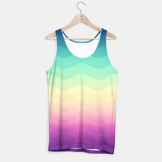 Miniature de image de Abstract Geometric  Candy / Rainbow Waves Pattern (Multi Color) Tank Top, Live Heroes