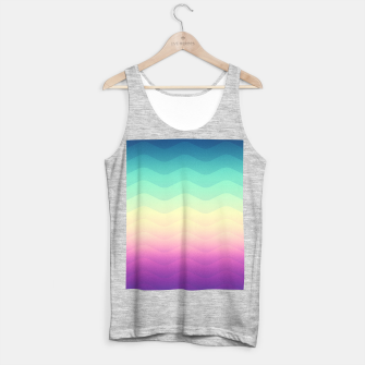 Thumbnail image of Abstract Geometric  Candy / Rainbow Waves Pattern (Multi Color) Tank Top regular, Live Heroes