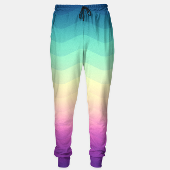 Miniature de image de Abstract Geometric  Candy / Rainbow Waves Pattern (Multi Color) Sweatpants, Live Heroes