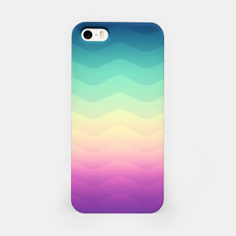 Miniature de image de Abstract Geometric  Candy / Rainbow Waves Pattern (Multi Color) iPhone Case, Live Heroes