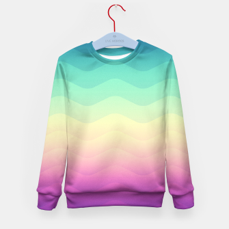 Miniature de image de Abstract Geometric  Candy / Rainbow Waves Pattern (Multi Color) Kid's Sweater, Live Heroes