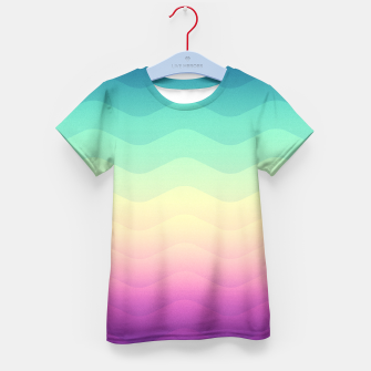 Miniature de image de Abstract Geometric  Candy / Rainbow Waves Pattern (Multi Color) Kid's T-shirt, Live Heroes