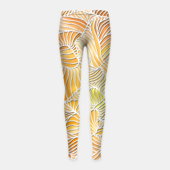 Thumbnail image of vw Girl's Leggings, Live Heroes
