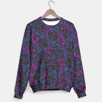 Miniature de image de Abstract Geometric 3D Triangle Pattern in Blue / Pink Sweater, Live Heroes