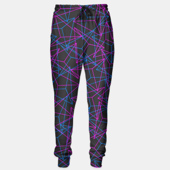 Miniature de image de Abstract Geometric 3D Triangle Pattern in Blue / Pink Sweatpants, Live Heroes