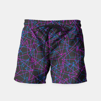 Miniature de image de Abstract Geometric 3D Triangle Pattern in Blue / Pink Swim Shorts, Live Heroes