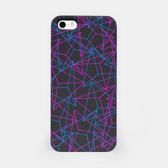 Miniature de image de Abstract Geometric 3D Triangle Pattern in Blue / Pink iPhone Case, Live Heroes