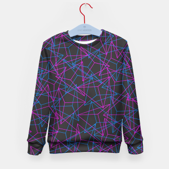 Miniature de image de Abstract Geometric 3D Triangle Pattern in Blue / Pink Kid's Sweater, Live Heroes