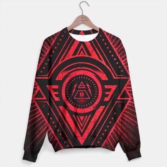 Miniature de image de The Eye of Providence is watching you! (Diabolic red Freemason / Illuminati symbolic) Sweater, Live Heroes