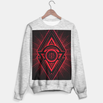 Miniature de image de The Eye of Providence is watching you! (Diabolic red Freemason / Illuminati symbolic) Sweater regular, Live Heroes