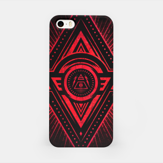 Miniature de image de The Eye of Providence is watching you! (Diabolic red Freemason / Illuminati symbolic) iPhone Case, Live Heroes