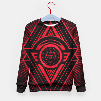 Miniature de image de The Eye of Providence is watching you! (Diabolic red Freemason / Illuminati symbolic) Kid's Sweater, Live Heroes