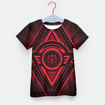 Miniature de image de The Eye of Providence is watching you! (Diabolic red Freemason / Illuminati symbolic) Kid's T-shirt, Live Heroes