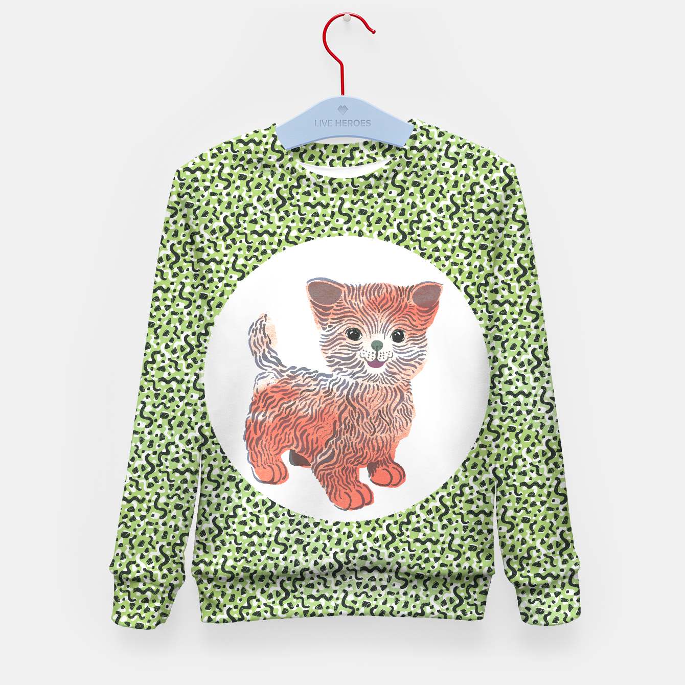 Image of Kiddy Cat unisex sweater by Veronique de Jong (matching leggings available!) - Live Heroes