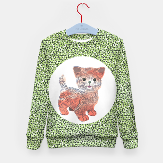 Thumbnail image of Kiddy Cat unisex sweater by Veronique de Jong (matching leggings available!), Live Heroes