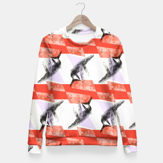 Miniatur Whale goes Eighties Fitted Waist Sweater, Live Heroes