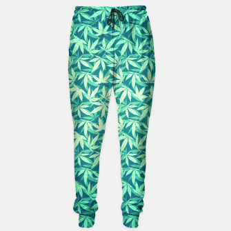 Cannabis / Hemp / 420 / Marijuana  - Pattern Sweatpants miniature