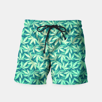 Cannabis / Hemp / 420 / Marijuana  - Pattern Swim Shorts miniature