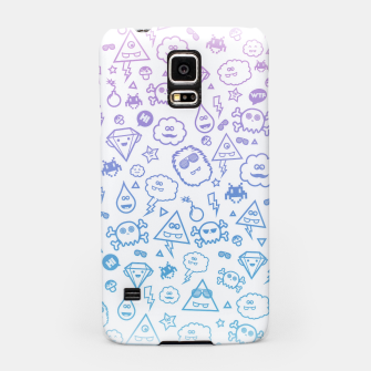 Crazy and Cute Monster Patter in blue pink Samsung Case miniature