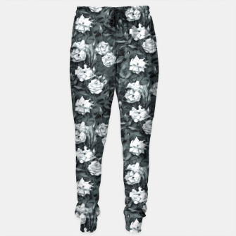 Thumbnail image of Black and white roses Sweatpants, Live Heroes
