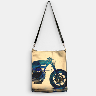 Thumbnail image of Metalic Blue Handbag, Live Heroes