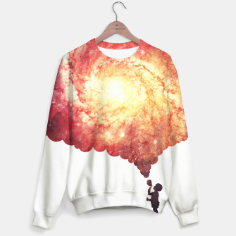 Miniature de image de The universe in a soap-bubble! (Awesome Space / Nebula / Galaxy Negative Space Artwork) Sweater, Live Heroes