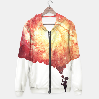 The universe in a soap-bubble! (Awesome Space / Nebula / Galaxy Negative Space Artwork) Hoodie obraz miniatury