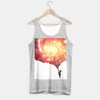 The universe in a soap-bubble! (Awesome Space / Nebula / Galaxy Negative Space Artwork) Tank Top regular obraz miniatury