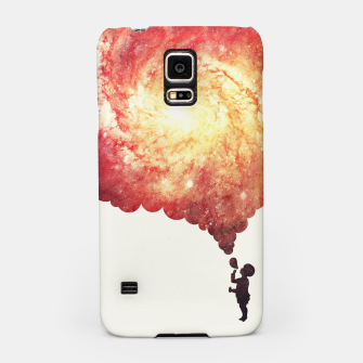 Thumbnail image of The universe in a soap-bubble! (Awesome Space / Nebula / Galaxy Negative Space Artwork) Samsung Case, Live Heroes