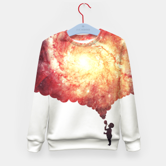 Miniature de image de The universe in a soap-bubble! (Awesome Space / Nebula / Galaxy Negative Space Artwork) Kid's Sweater, Live Heroes