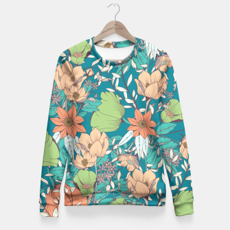 Miniature de image de Botanical pattern 003 Fitted Waist Sweater, Live Heroes