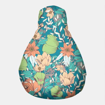Thumbnail image of Botanical pattern 003 Pouf, Live Heroes