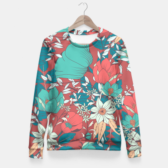Miniature de image de Botanical pattern 004 Fitted Waist Sweater, Live Heroes