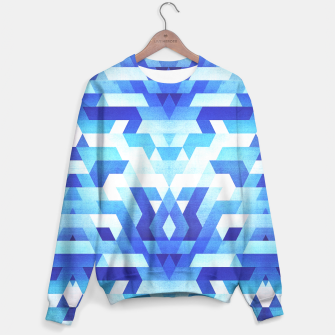 Miniature de image de Abstract geometric triangle pattern (futuristic future symmetry) in ice blue Sweater, Live Heroes