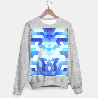 Miniaturka Abstract geometric triangle pattern (futuristic future symmetry) in ice blue Sweater regular, Live Heroes