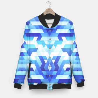 Miniaturka Abstract geometric triangle pattern (futuristic future symmetry) in ice blue Baseball Jacket, Live Heroes
