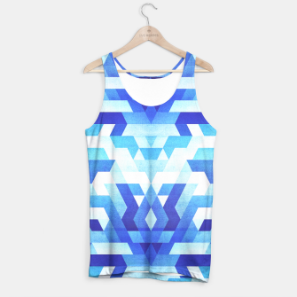 Miniaturka Abstract geometric triangle pattern (futuristic future symmetry) in ice blue Tank Top, Live Heroes
