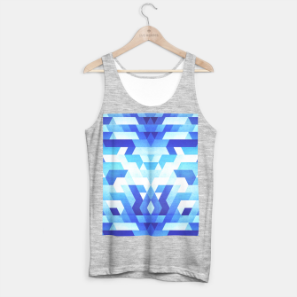 Miniaturka Abstract geometric triangle pattern (futuristic future symmetry) in ice blue Tank Top regular, Live Heroes
