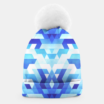 Miniaturka Abstract geometric triangle pattern (futuristic future symmetry) in ice blue Beanie, Live Heroes