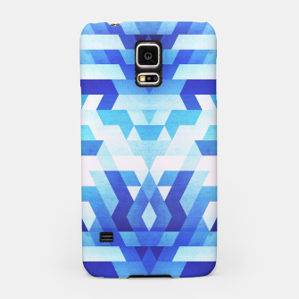 Miniaturka Abstract geometric triangle pattern (futuristic future symmetry) in ice blue Samsung Case, Live Heroes