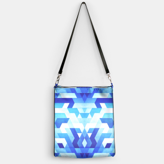 Miniaturka Abstract geometric triangle pattern (futuristic future symmetry) in ice blue Handbag, Live Heroes