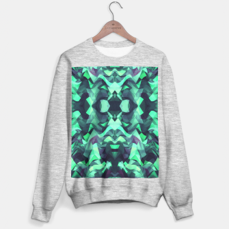 Miniature de image de Abstract Surreal Chaos theory in Modern poison turquoise green Sweater regular, Live Heroes