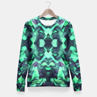 Miniature de image de Abstract Surreal Chaos theory in Modern poison turquoise green Fitted Waist Sweater, Live Heroes