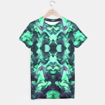 Miniature de image de Abstract Surreal Chaos theory in Modern poison turquoise green T-shirt, Live Heroes