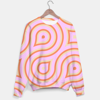 Pink and orange line art Sweater thumbnail image