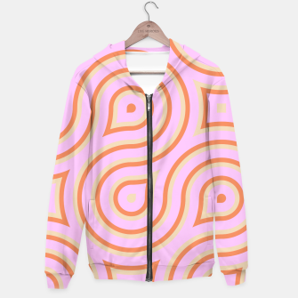 Pink and orange line art Hoodie thumbnail image