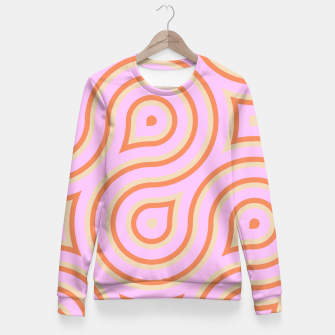 Pink and orange line art Fitted Waist Sweater thumbnail image