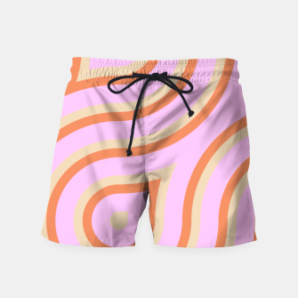 Pink and orange line art Swim Shorts thumbnail image